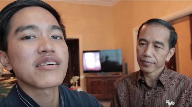 Kaesang dan Jokowi /