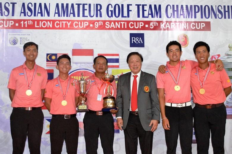 Thailand Sapu Bersih di SEA Amateur Golf Team Championship 2017