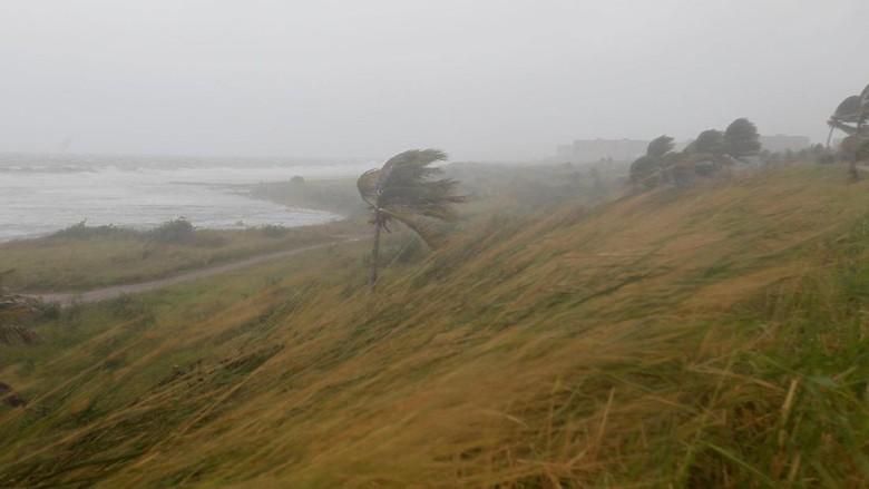 Ombak Tinggi dan Angin Kencang Menghempas Florida, Warga Sembunyi