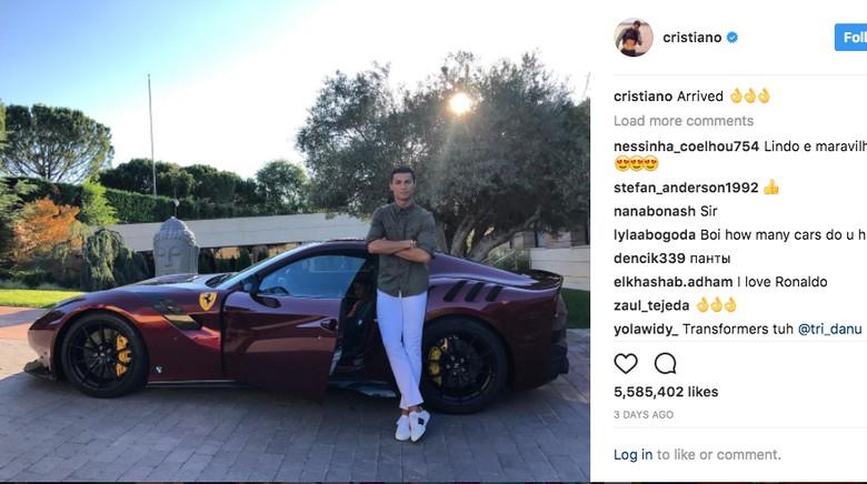 Foto: Screenshot Instagram Cristiano Ronaldo