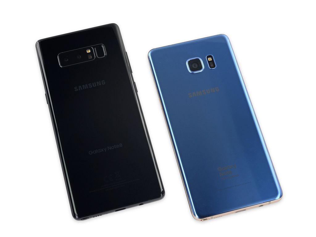 Ini Galaxy Note 8 disandingkan dengan Noote 7 Fan Edition. Foto: ifixit