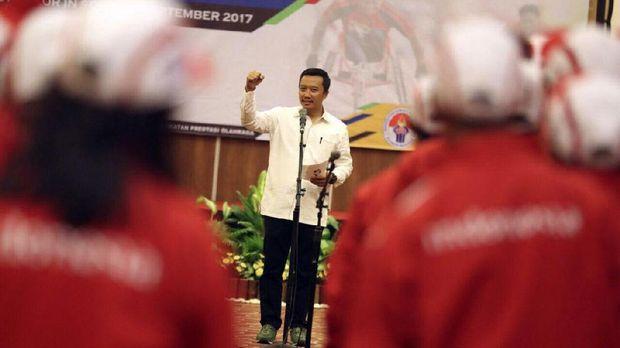Imam Nahrawi sambut gembira kemenangan Timnas Indonesia U-19 atas Brunei Darussalam.