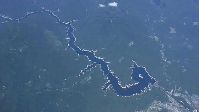Foto: Sungai berbentuk naga di Jepang (@chicago0812/Twitter)