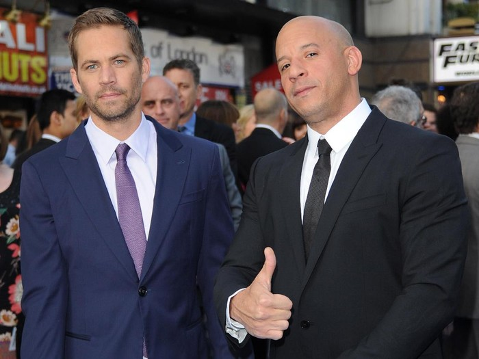 LONDON, ENGLAND - MAY 07:  Actors Paul Walker and Vin Diesel attends the Fast & Furious 6 World Premiere at The Empire, Leicester Square on May 7, 2013 in London, England.  (Photo by Stuart C. Wilson/Getty Images for Universal Pictures)