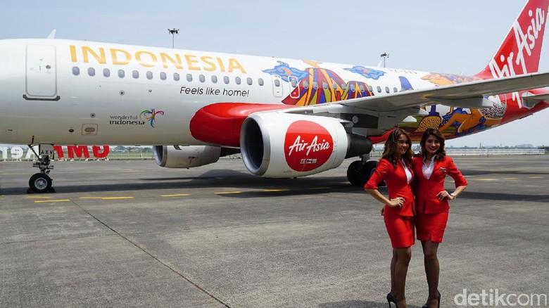 Foto: Ilustrasi maskapai AirAsia (Masaul/detikTravel)