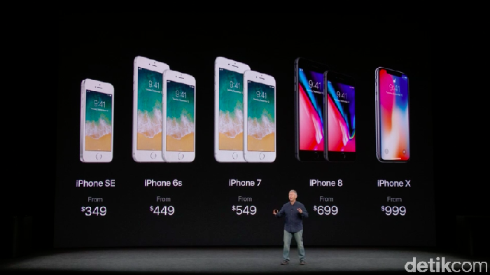 Harga iPhone 8, iPhone 8 Plus, dan iPhone X (Achmad Rouzni Noor II/detikINET)
