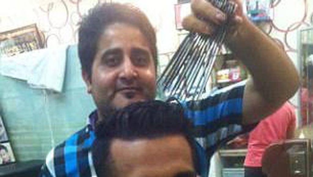 Ajaib, di Salon Ini Potong Rambut Pakai 15 Gunting