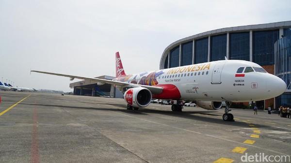 Pesawat dengan nomor register PK-AXV ini akan ditempatkan secara berotasi di keempat hub AirAsia Indonesia, yaitu Jakarta, Medan, Surabaya dan Bali(Masaul/detikTravel)
