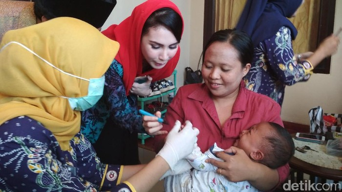 Di Indonesia sandiri cakupan imunisasi campak ada yang belum mencapai target. (Foto: Adhar Muttaqin)