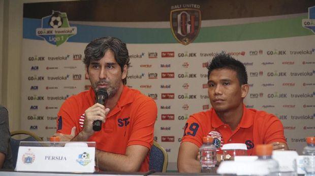 Pelatih Persija Stefano 'Teco' Cugurra mewaspadai lini depan Bali United