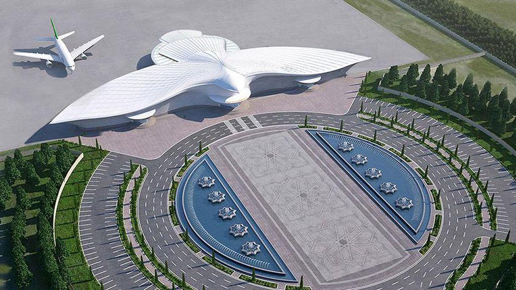 Foto: Butuh Rp 30 Triliun Bikin Bandara Berbentuk Elang Ini