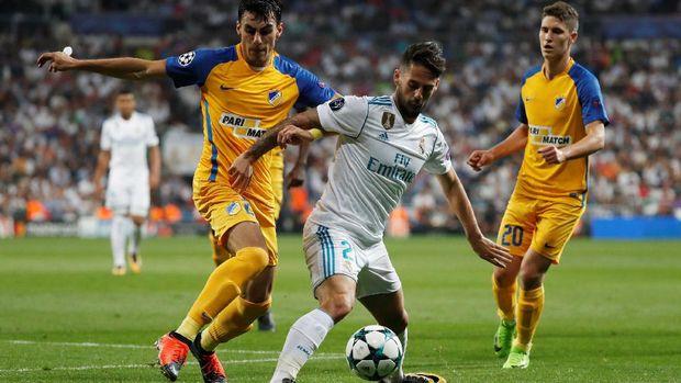Performa Real Madrid di babak pertama terbilang monoton.