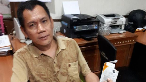 Indra Piliang seusai ditangkap karena mengonsumsi sabu