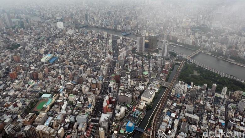Penampakan dari Tokyo Skytree (Rachman Haryanto/detikTravel)