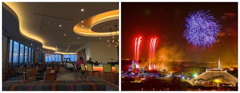 Meskipun Victoria & Alberts adalah restoran termahal di Disney World, akan tetapi banyak orang yang memilih California Grill untuk makan bersama sang kekasih. Setelah direnovasi yang ekstensif di tahun 2013, tempat ini memiliki desain dengan jendela dan dinding dan ruangan yang menampilkan pemandangan Wishs Show tiap malam. Foto: Istimewa
