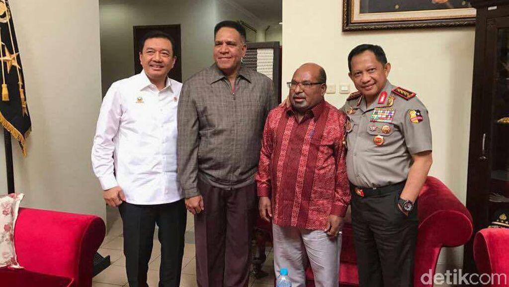 Kata Polri soal Foto Pertemuan Kapolri-Kepala BIN-Gubernur Papua