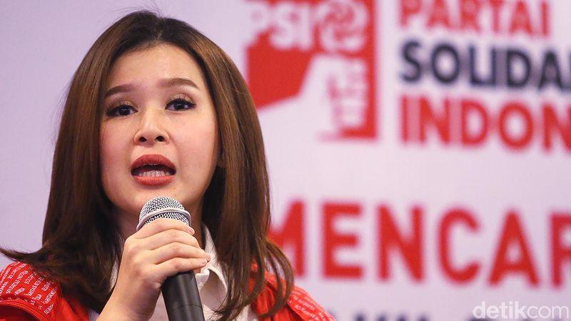Grace Natalie merupakan Ketua Umum PSI (Partai Solidaritas Indonesia). Ibu dua anak ini, sebelumnya merupakan presenter ternama (Ari Saputra/detikcom)