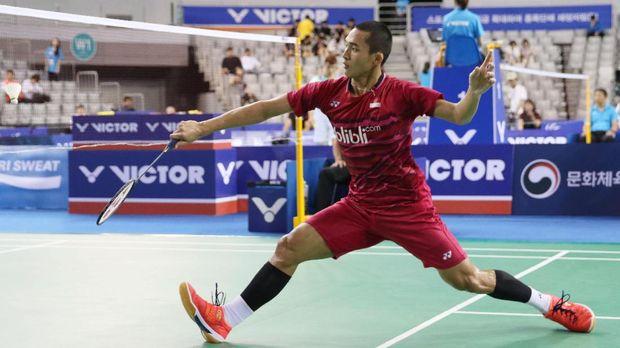 Jonatan Christi tumbang di putaran pertama Indonesia Masters 2018.