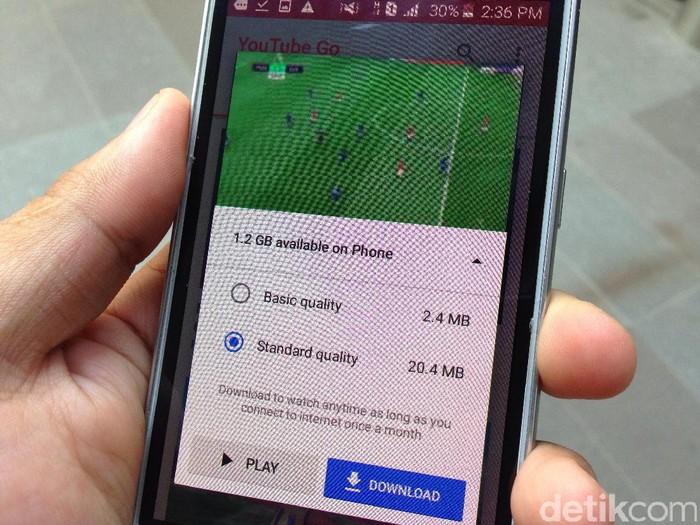 Aplikasi YouTube Go. Foto: agus/detikINET