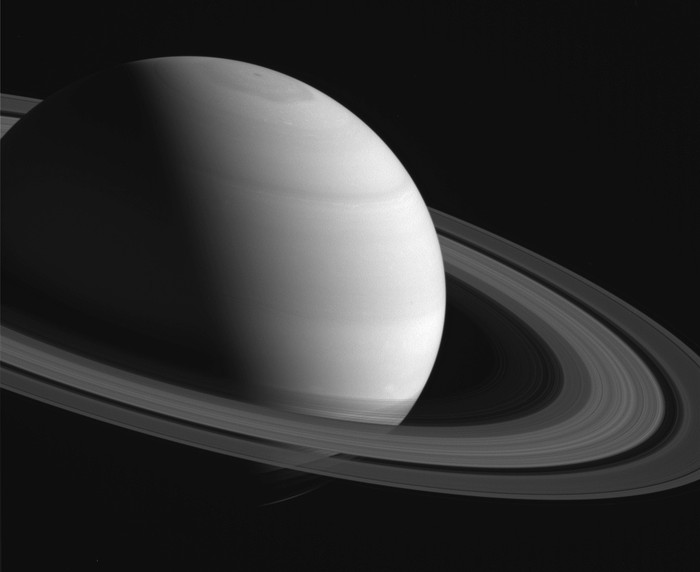 Saturnus, salah satu planet yang dapat dilihat malam ini. Foto: NASA/JPL/Space Science Institute