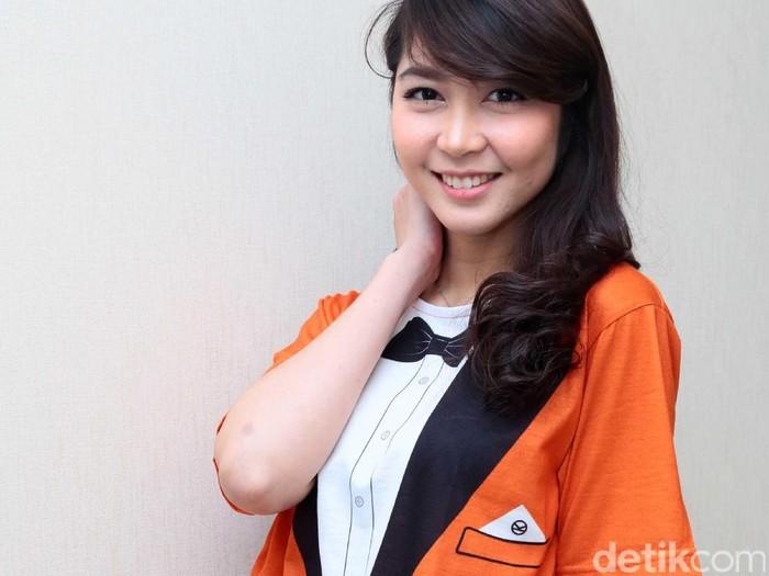 Jessica Veranda, eks JKT 48 saat ditemui di kawasan Kebon Jeruk.