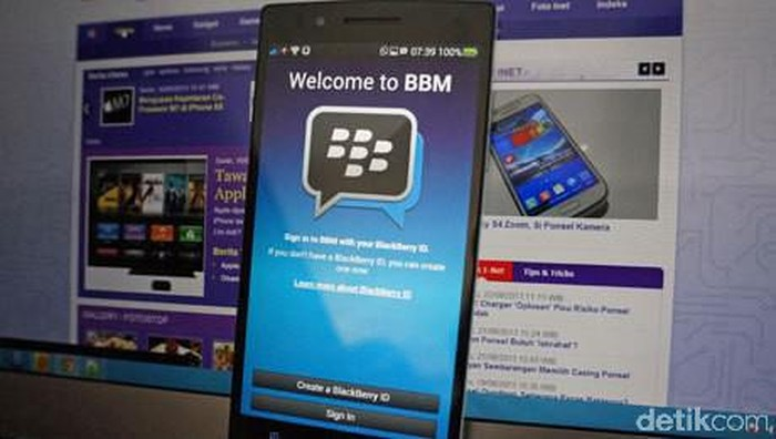 BlackBerry Messenger. Foto: detikINET