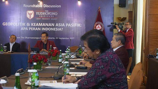 Gelar Diskusi TYI, AHY dan SBY Bahas Rudal Korut Hingga Rohingya