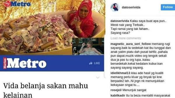 Bukan Bos Travel, Ini Sosialita Malaysia yang Mandi Tumpukan Uang di Bathtub