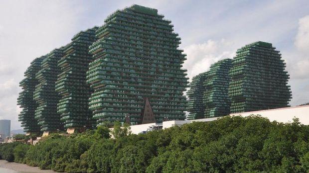 Beauty Crown Hotel yang punya gedung mirip pohon