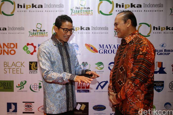 Sandiaga menghadiri Rakernas HIPKA yang digelar di Jakarta pada 20-22 September 2017.