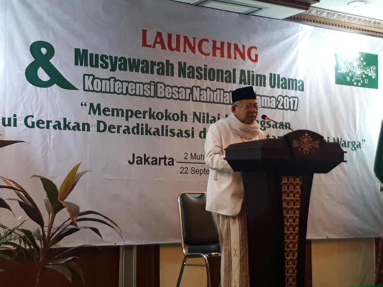Buka Munas dan Konbes PBNU, Maruf Amin: Mari Perkuat Landasan Islam