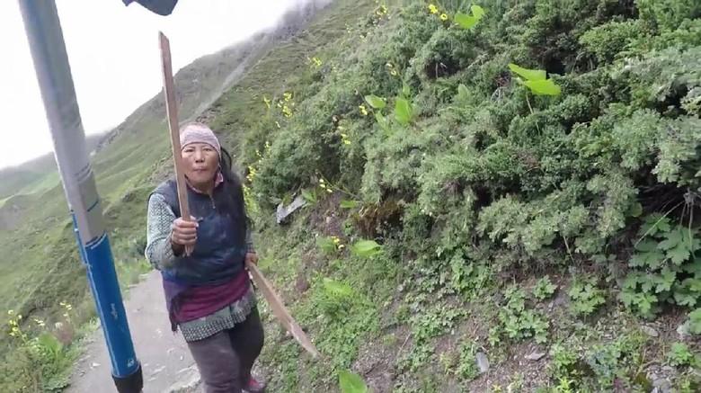 Ibu penjaga warung yang galak (@Stuart Wilson/Youtube)