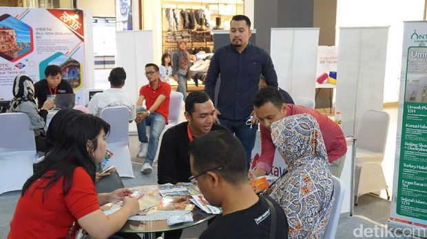 Mega Travel Fair diserbu pengunjung (Masaul/detikTravel)