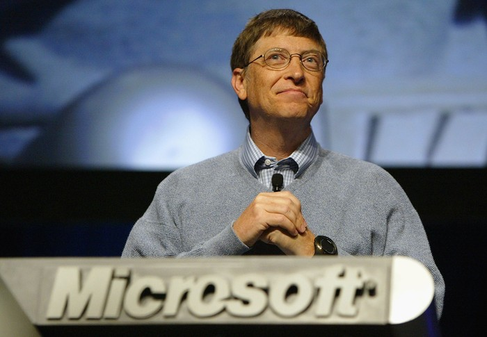 Bill Gates saat masih di Microsoft. Foto: Getty Images