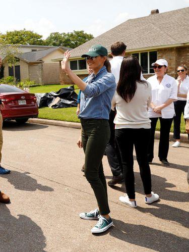 Melania Trump di Pearland, Texas.