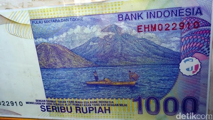 Pulau Maitara di lembar mata uang rupiah lama,