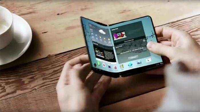 Konsep ponsel lipat Samsung. Foto: istimewa