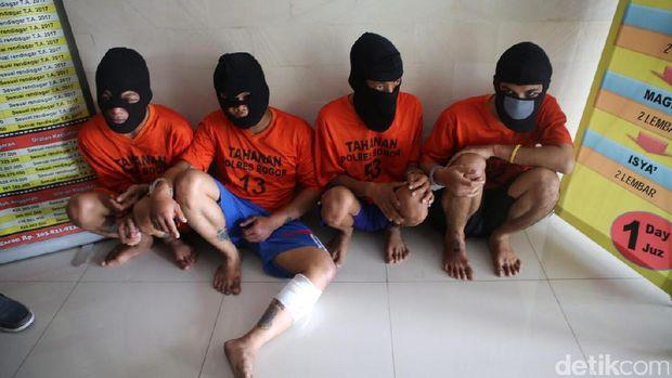 Perampok minimarket di Bogor ditangkap.