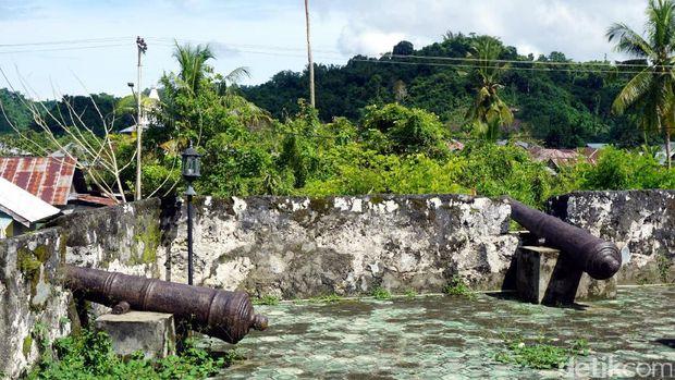 Meriam-meriam di setiap sudut benteng (Wahyu/detikTravel)