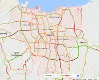 Diguyur Hujan, Kemacetan Nyaris Merata di Tol Kawasan Jakarta