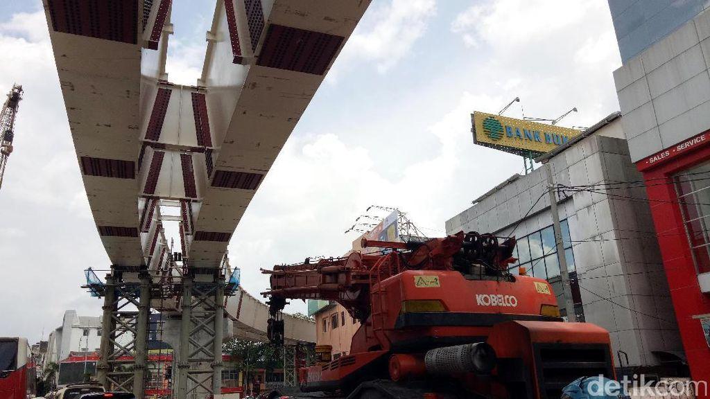 Proyek LRT Dikebut, Konstruksi Rampung Februari 2018