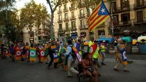 Ricuh! Massa Pro Kemerdekaan Catalan Vs Polisi Spanyol