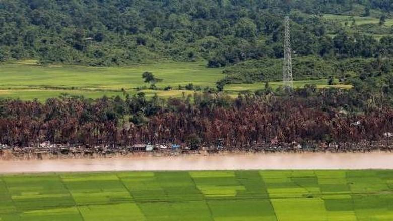 Myanmar Bangun Pangkalan Militer Baru di Area Bekas Desa Rohingya