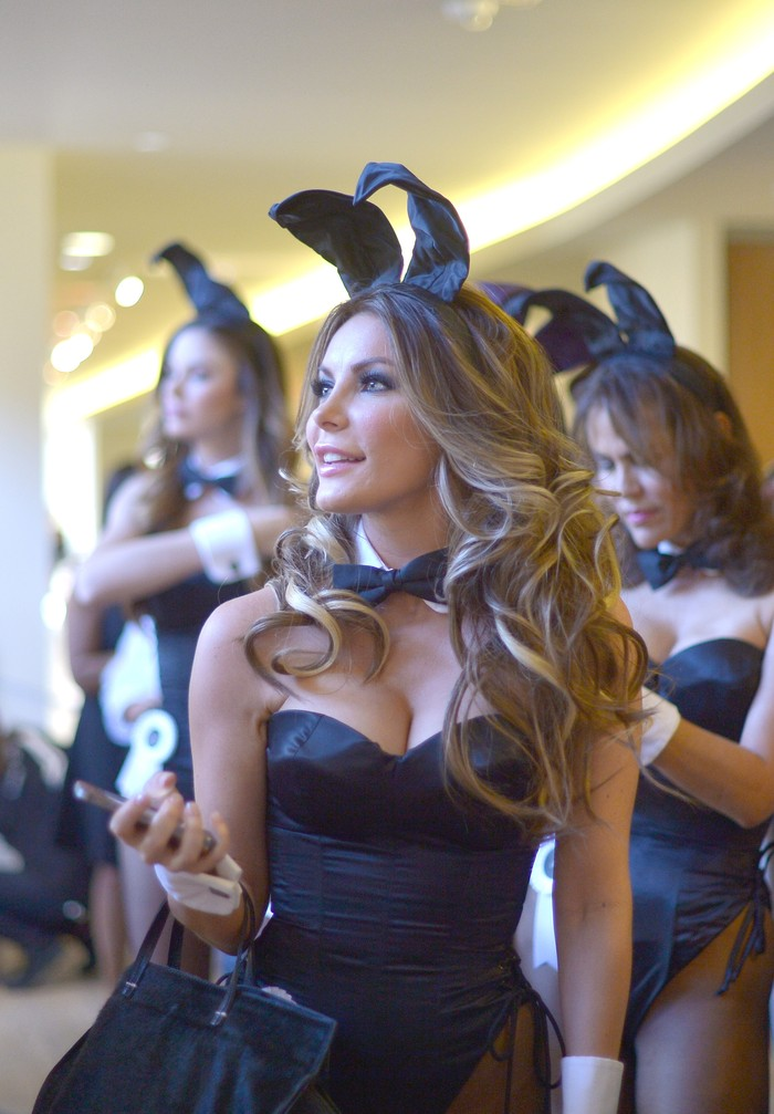 LOS ANGELES, CA - JANUARY 16:  Miss December 2009 Crystal Hefner prepares for Playboy's 60th Anniversary special event on January 16, 2014 in Los Angeles, California.  (Photo by Charley Gallay/Getty Images for Playboy)
