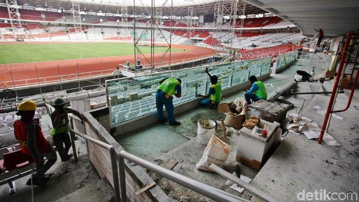 Stadion Utama Gelora Bung Karno (SUGBK) akan dilengkapi keamanan super canggih. (Hasan Alhabshy/detikSport)