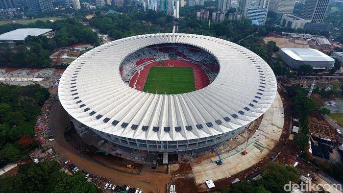 Stadion Utama Gelora Bung Karno (SUGBK) dilihat dari langit. Muhammad Abdurrosyid/detikSport)