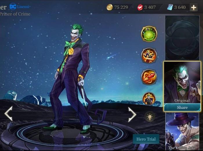 The Joker di game Arena of Valor. Foto: Garena