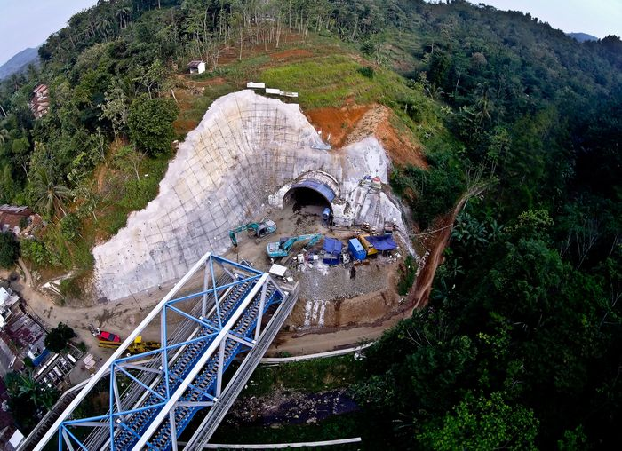 Terowongan Notog terletak di Desa Notog Kecamatan Patikraja, Kabupaten Banyumas. (Dok PTPP).