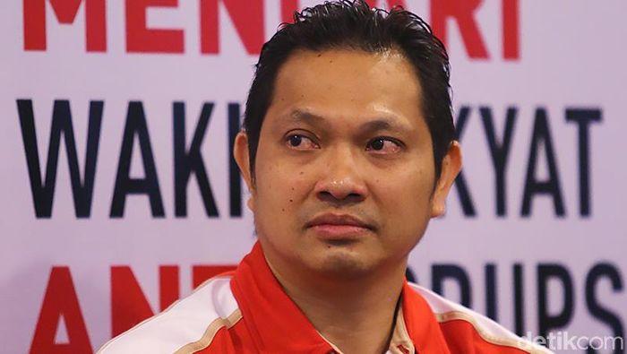 Hariyanto Arbi kecewa audisi umum PB Djarum dihentikan. (Foto: Ari Saputra/detikcom)