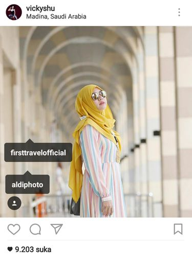 Bantah Endorse, Vicky Shu Tag Akun First Travel di Instagram
